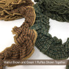 Green 1 Ruffled Trim/Garland  - 1 roll - 144 inches (12 feet)