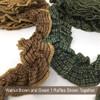 Walnut Brown Ruffled Trim/Garland  - 1 roll - 144 inches (12 feet)