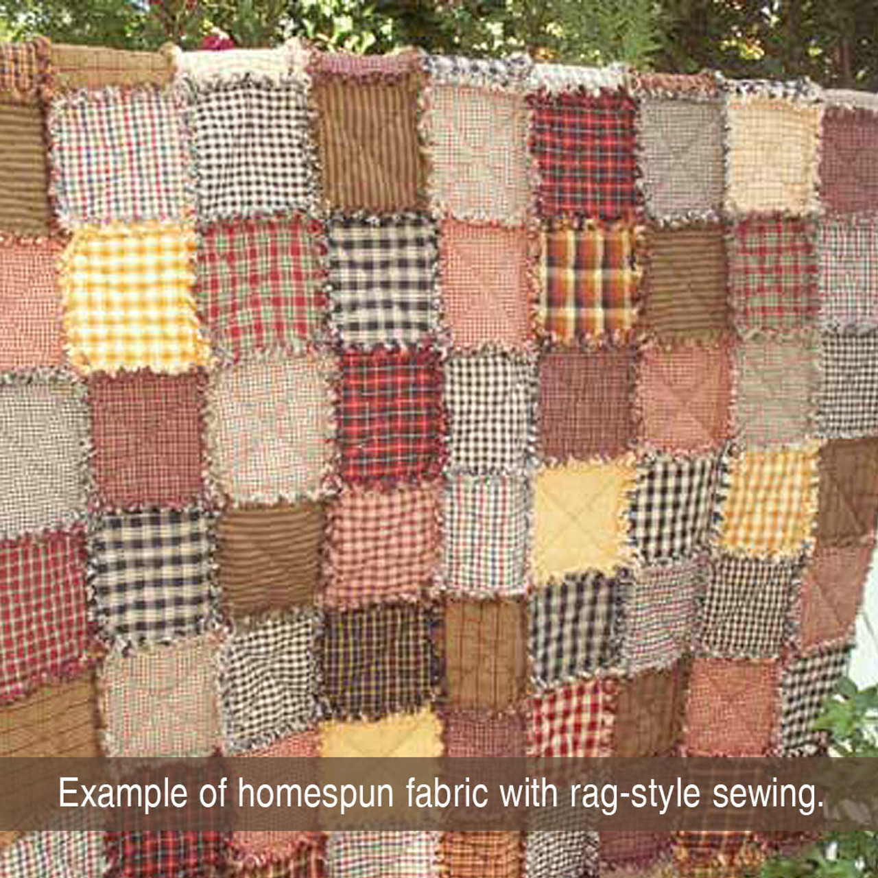 Mahogany Brown Homespun Cotton Fabric