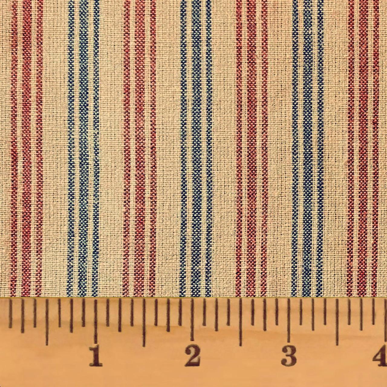 American Heritage Stripe Homespun Cotton Fabric
