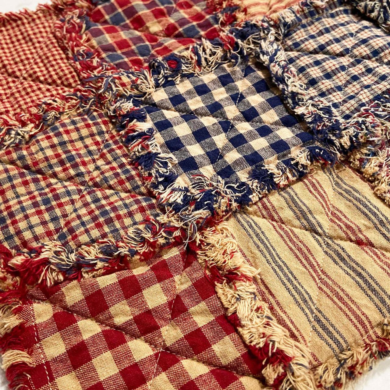 40+ American Heritage Plaid Homespun 5 inch Quilt Squares