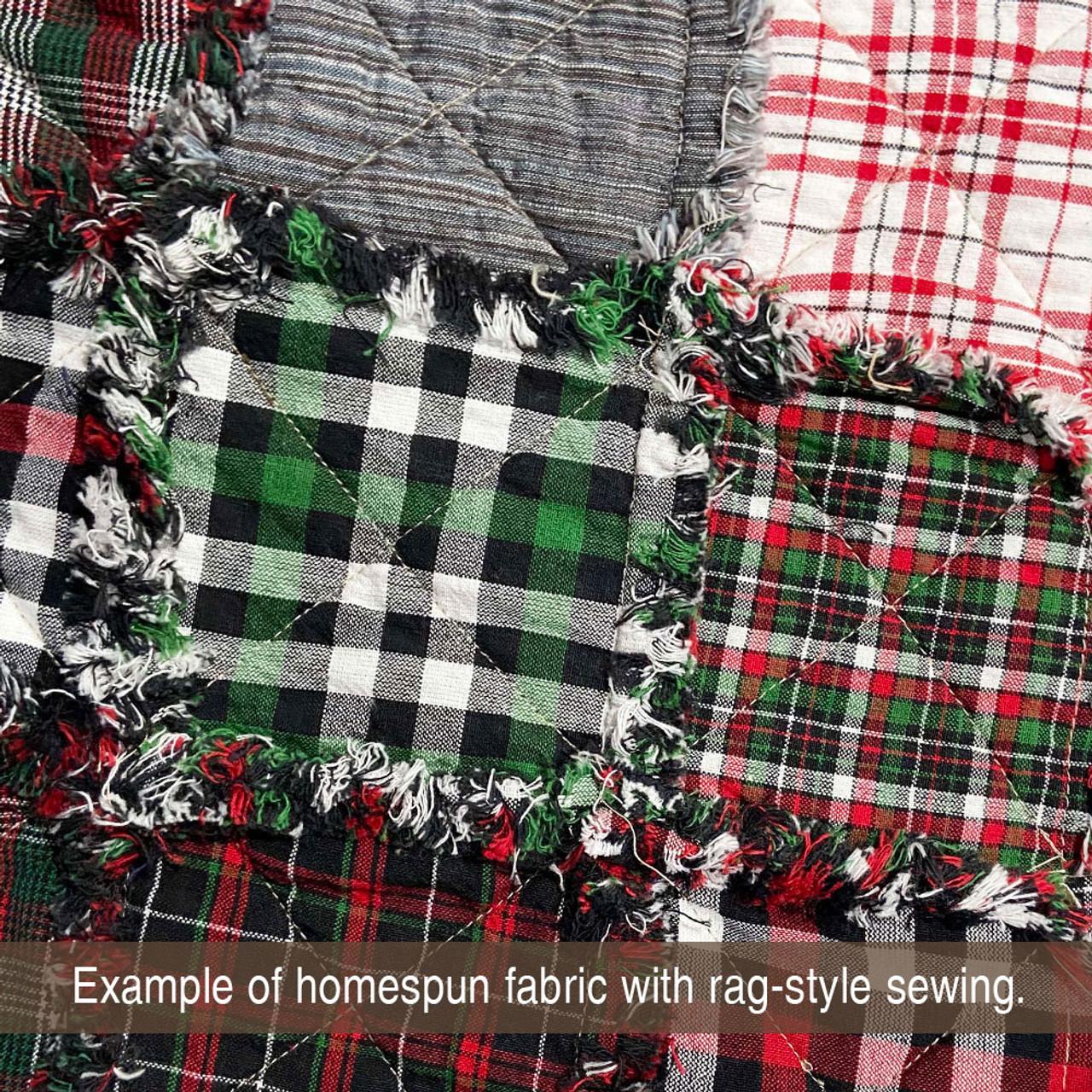 Mountain Lodge 5 Green Plaid Homespun Cotton Fabric