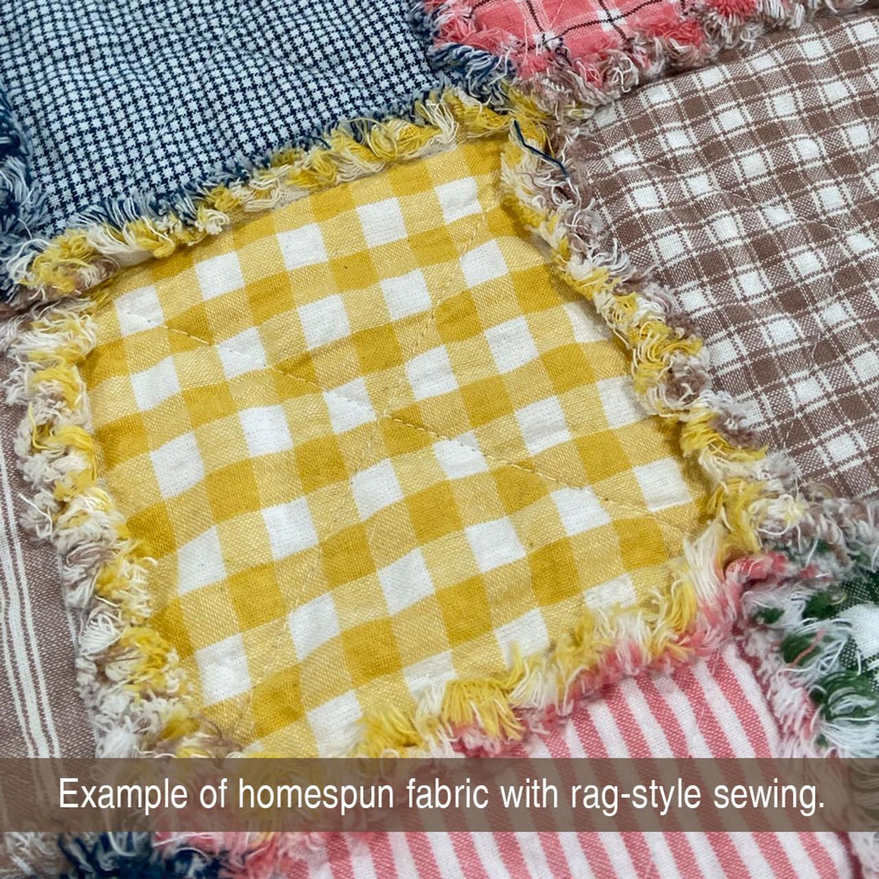 Summer Yellow 5 Mini Buffalo Homespun Cotton Fabric