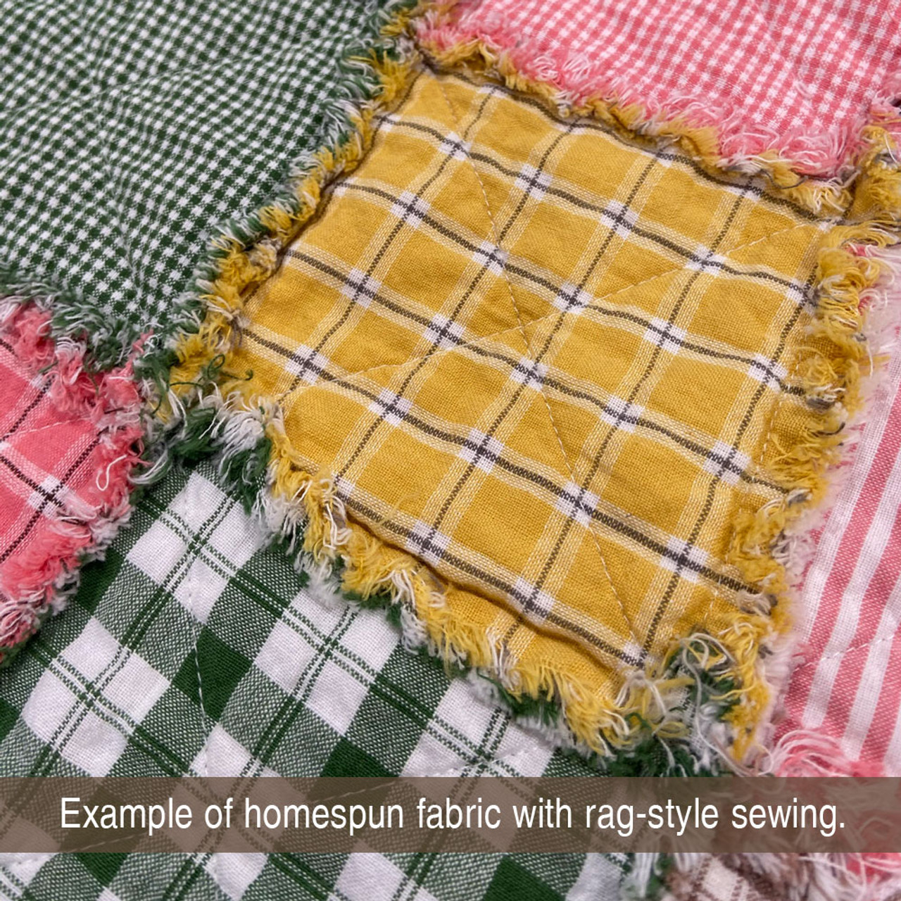 Summer Yellow 6 Homespun Cotton Fabric