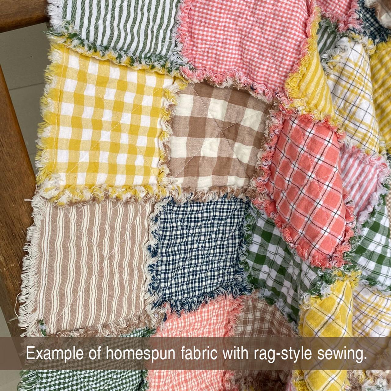 Oatmeal Ticking Stripe Homespun Cotton Fabric