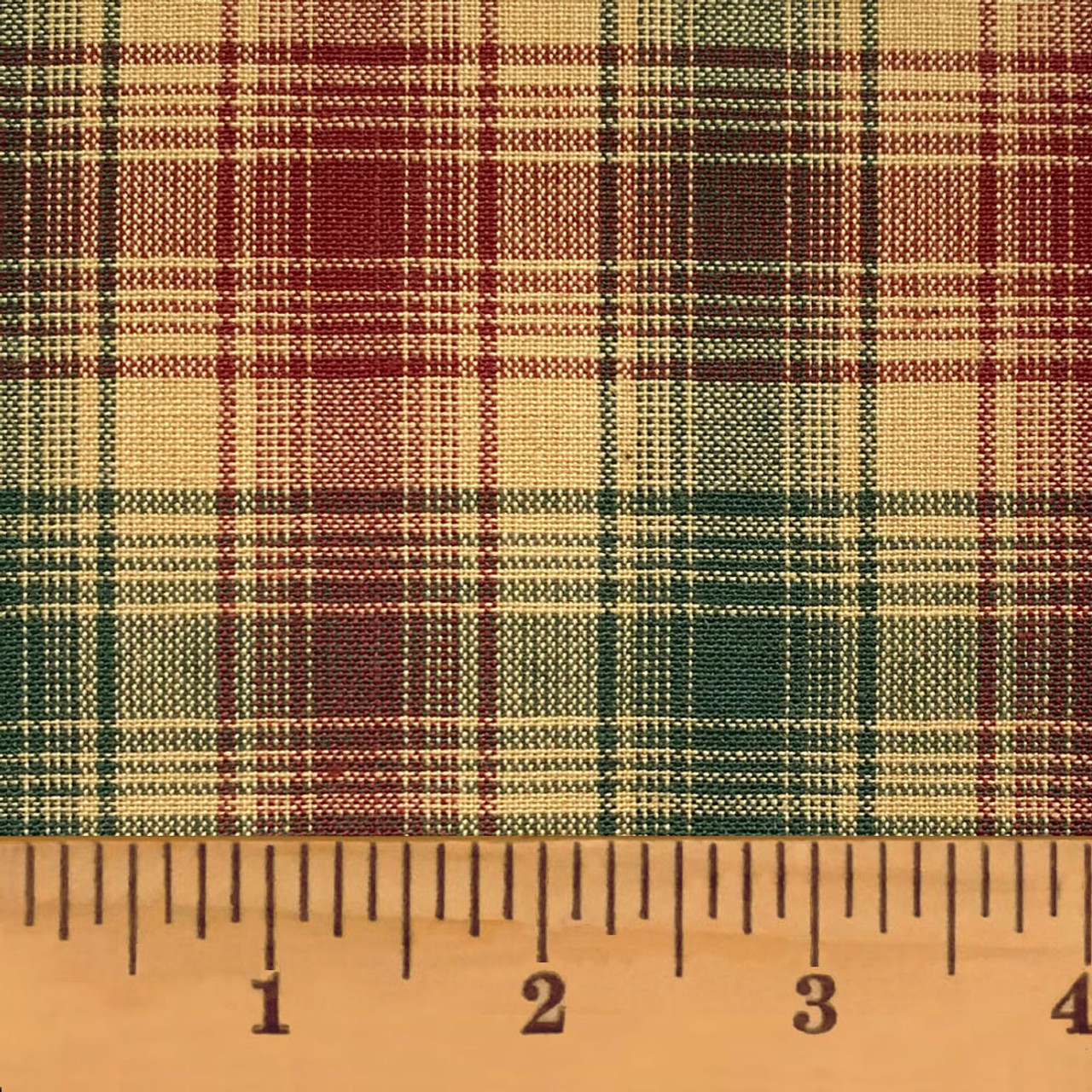 Vintage Christmas 1 Plaid Homespun Cotton Fabric
