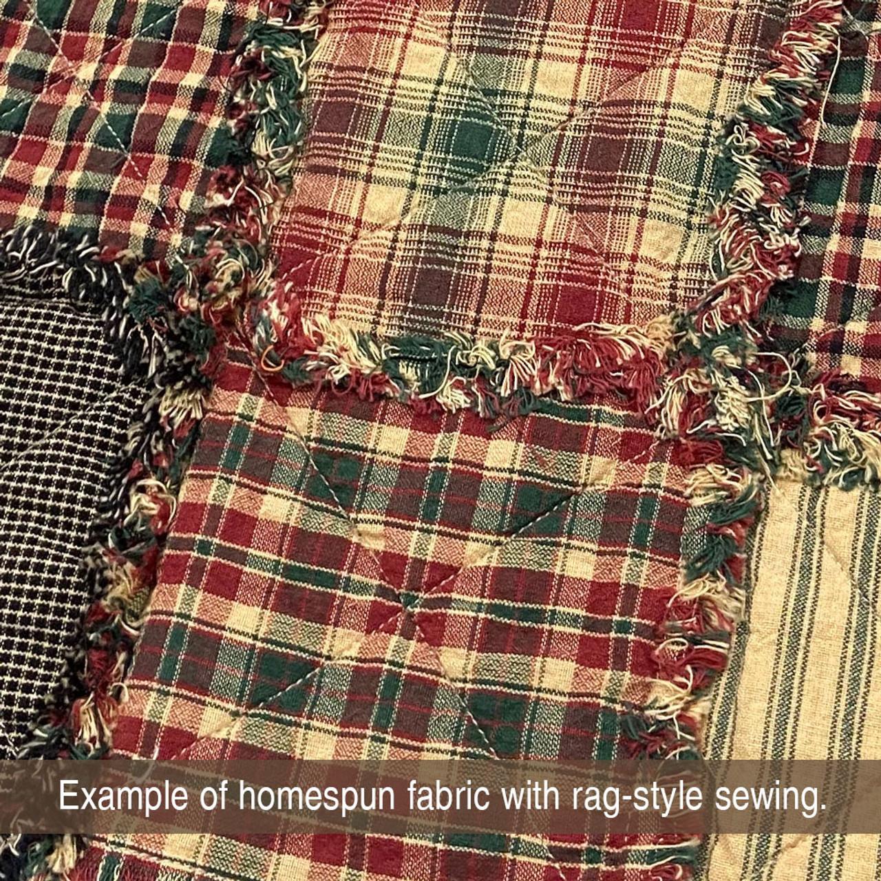 Vintage Christmas 2 Plaid Homespun Cotton Fabric