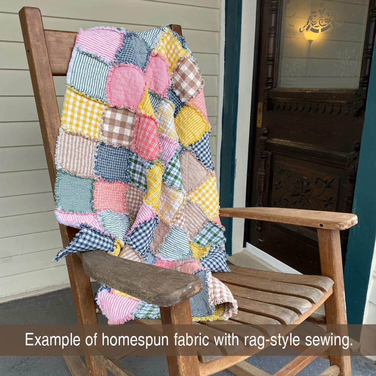 40+ Spring Garden Plaid Homespun 5 inch Quilt Squares