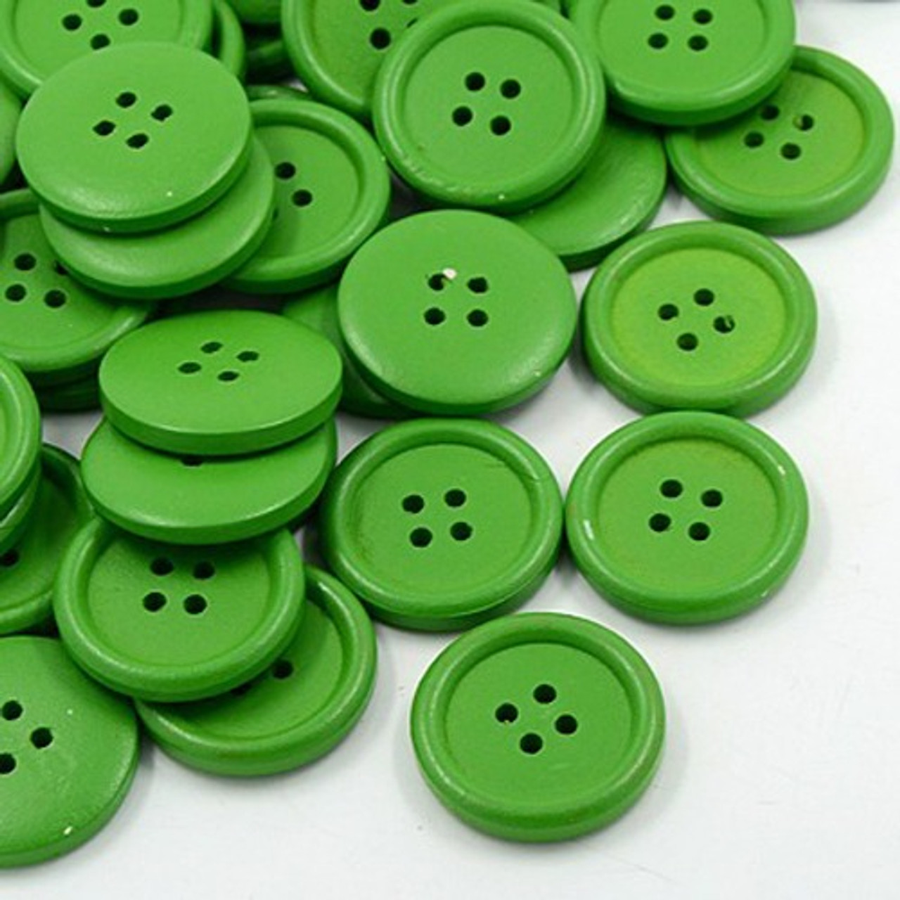 Jumbo Christmas Green Button Set of 12