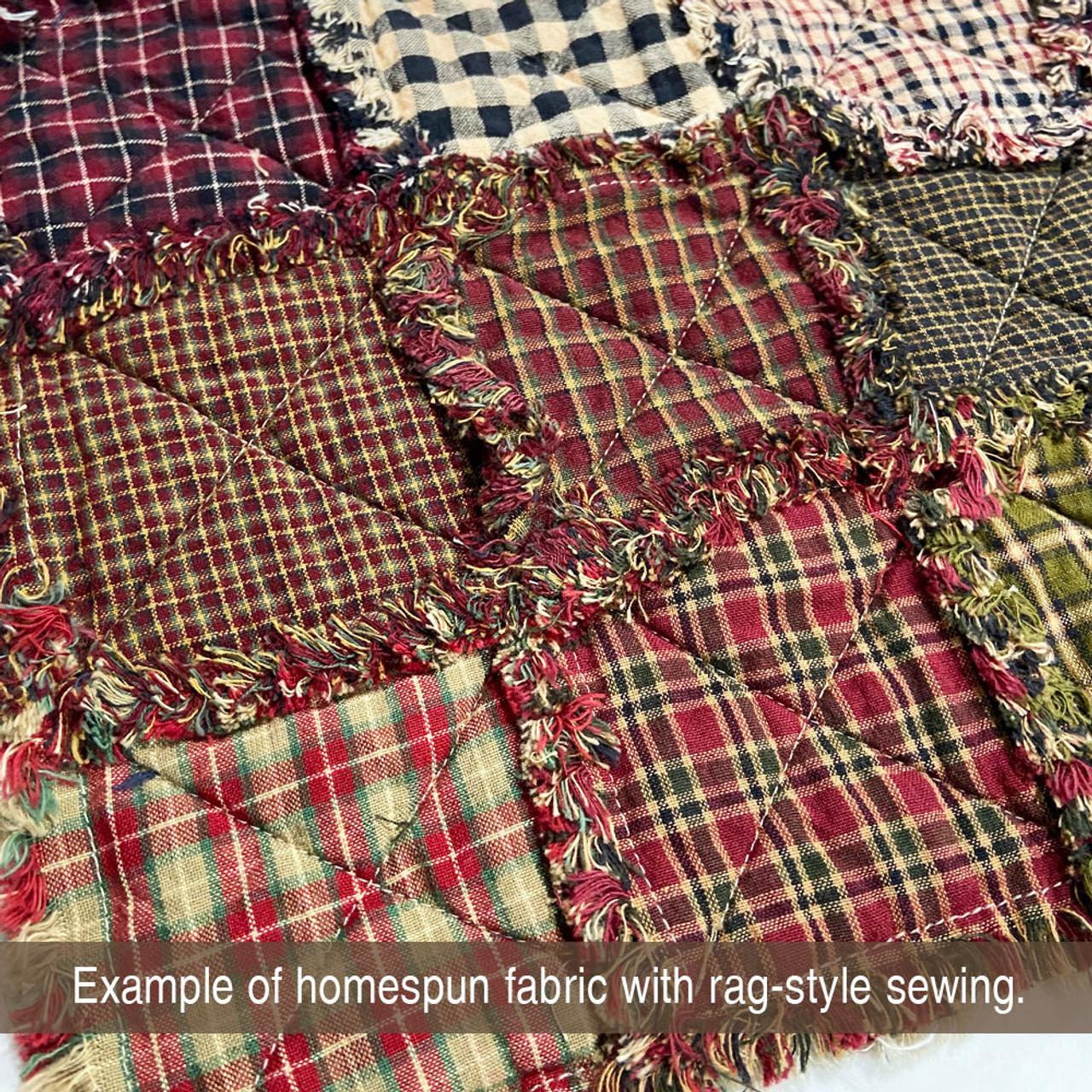 Red & Black Homespun Cotton Fabric