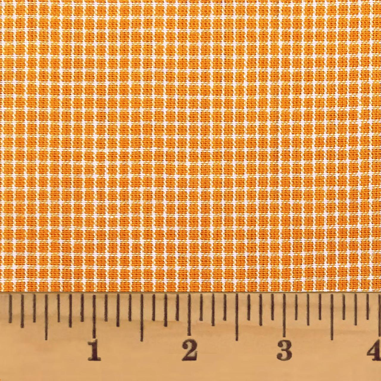 Sunrise Orange Homespun Cotton Fabric