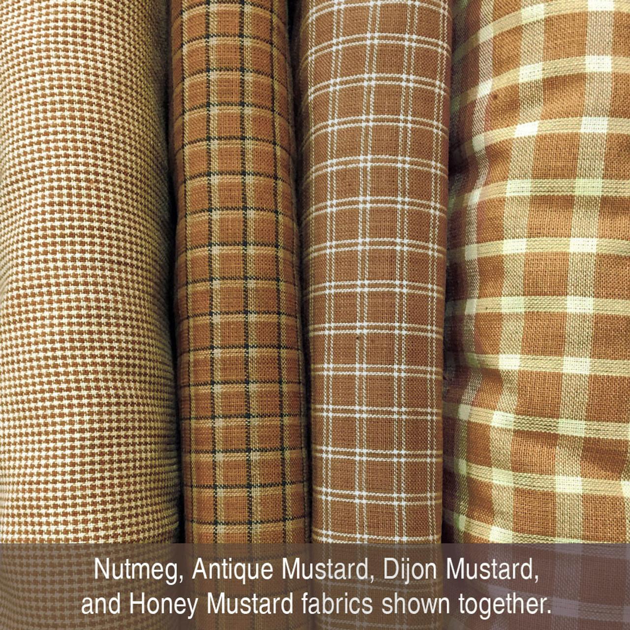 Honey Mustard Homespun Cotton Fabric