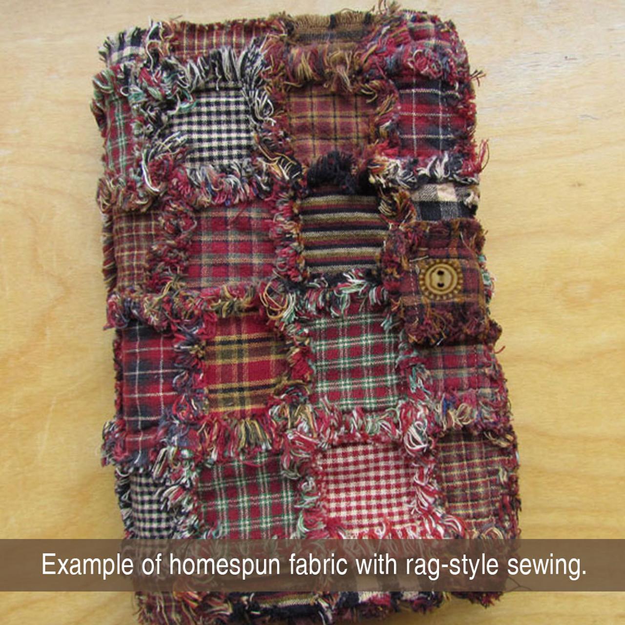 Cabin Red Homespun Cotton Fabric