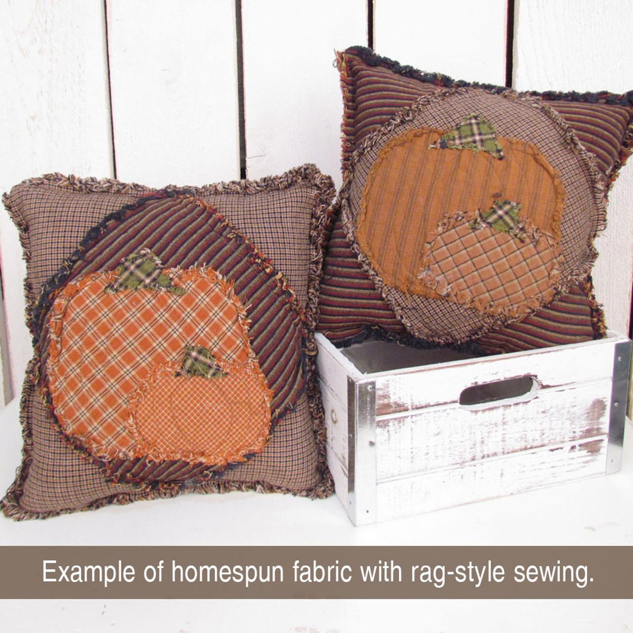Walnut Brown Homespun Fabric