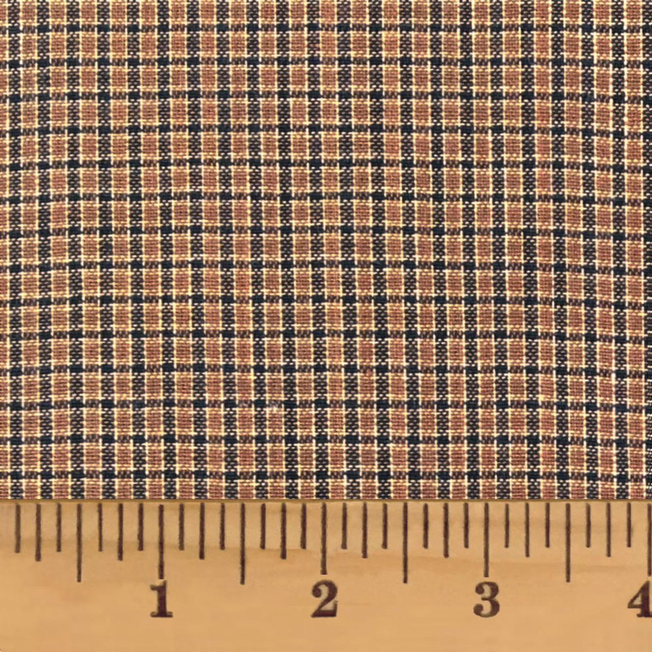 Walnut Brown Homespun Cotton Fabric