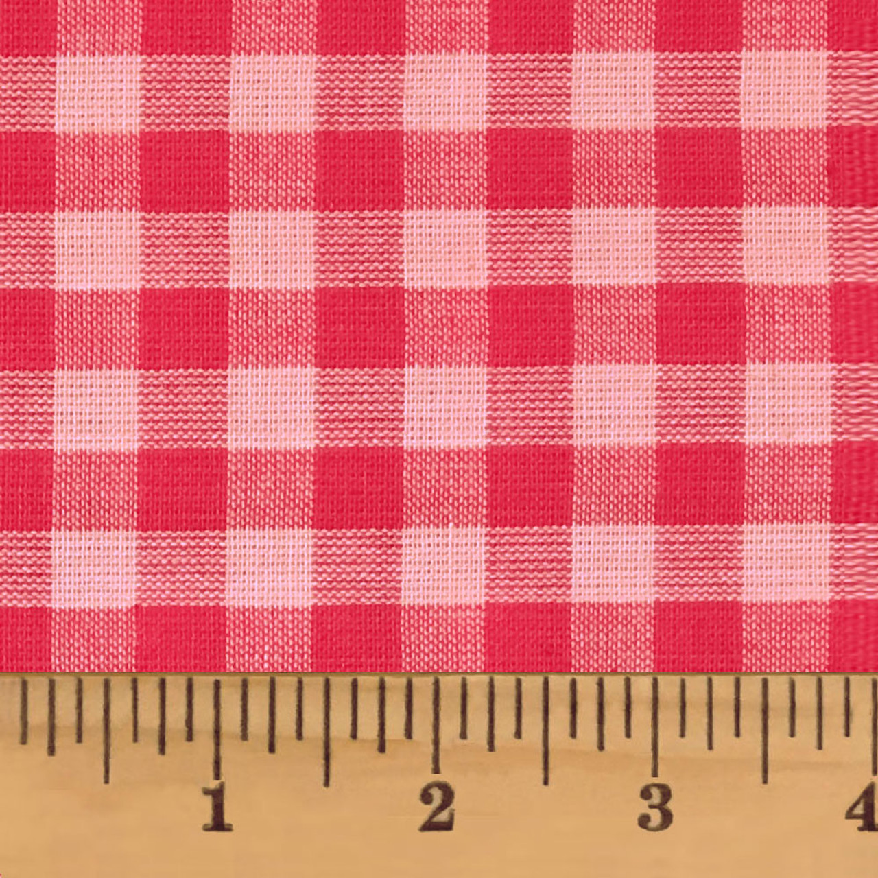 Strawberry Pink Mini Buffalo Homespun Cotton Fabric