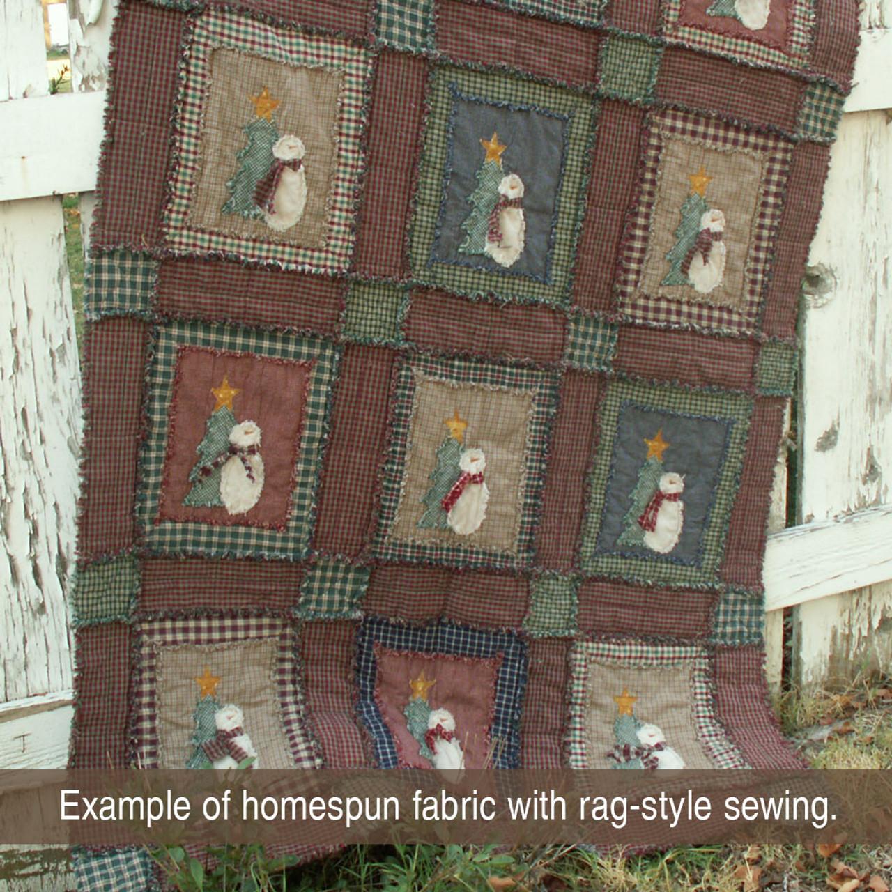 Christmas Plaid 2 Homespun Cotton Fabric
