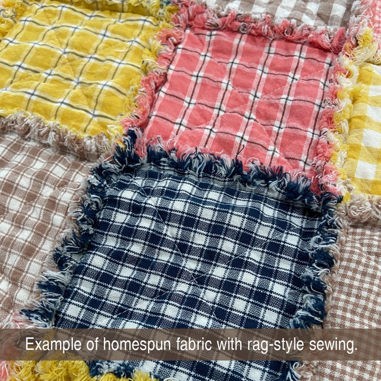 Nautical Blue 4 Homespun Cotton Fabric