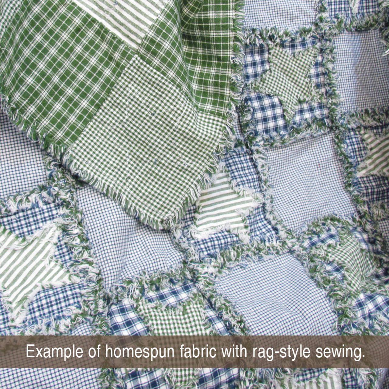 Nautical Blue 1 Homespun Cotton Fabric