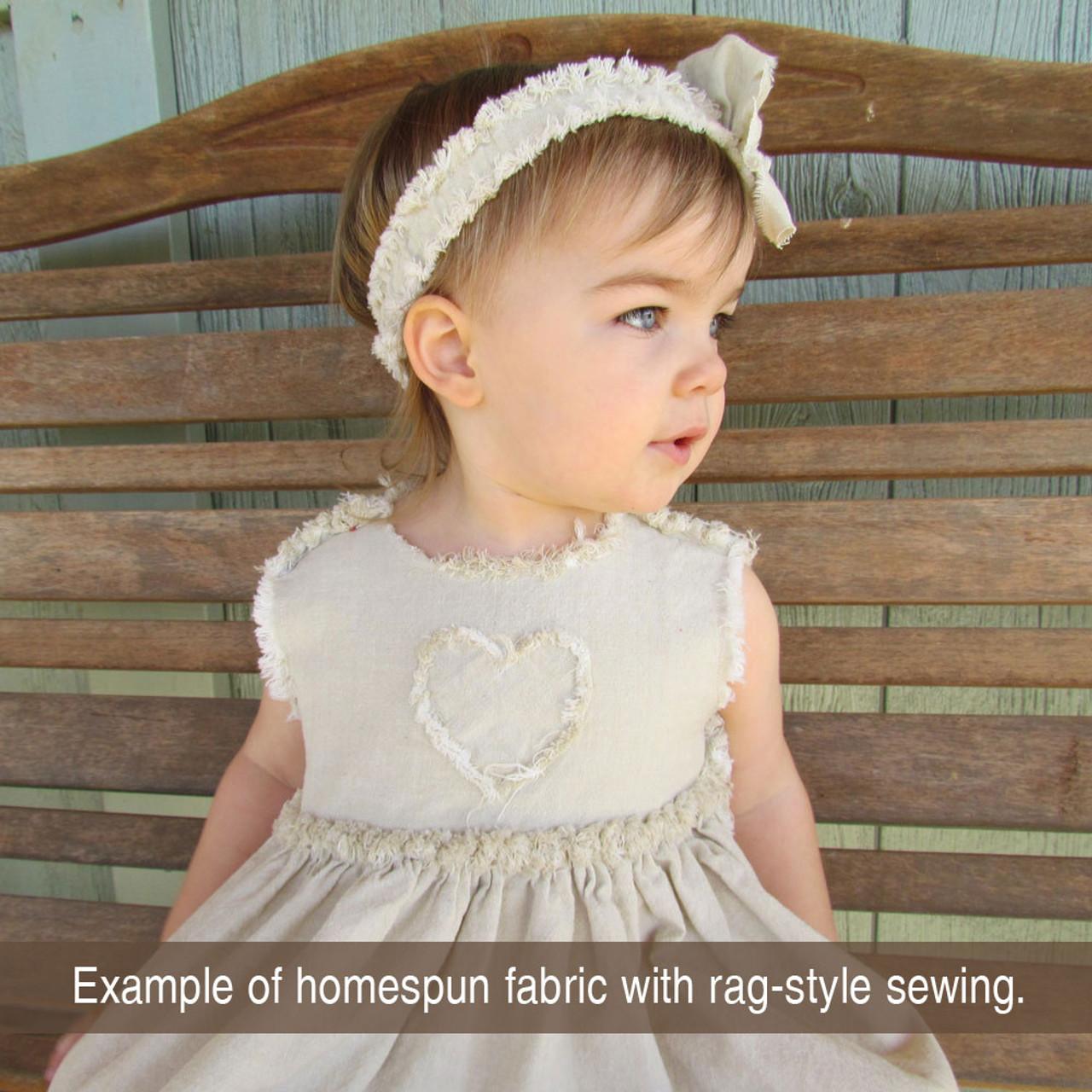 Ecru Solid Off-White Homespun Cotton Fabric