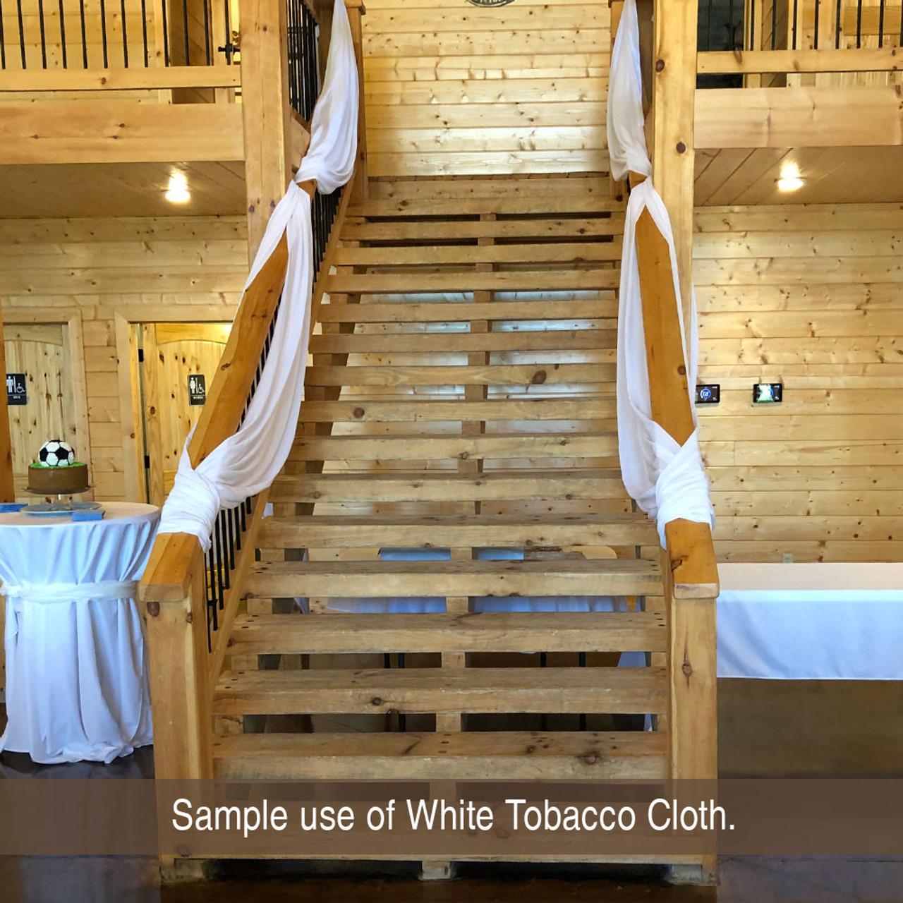 True White Tobacco Cloth Cotton Fabric - Lightweight