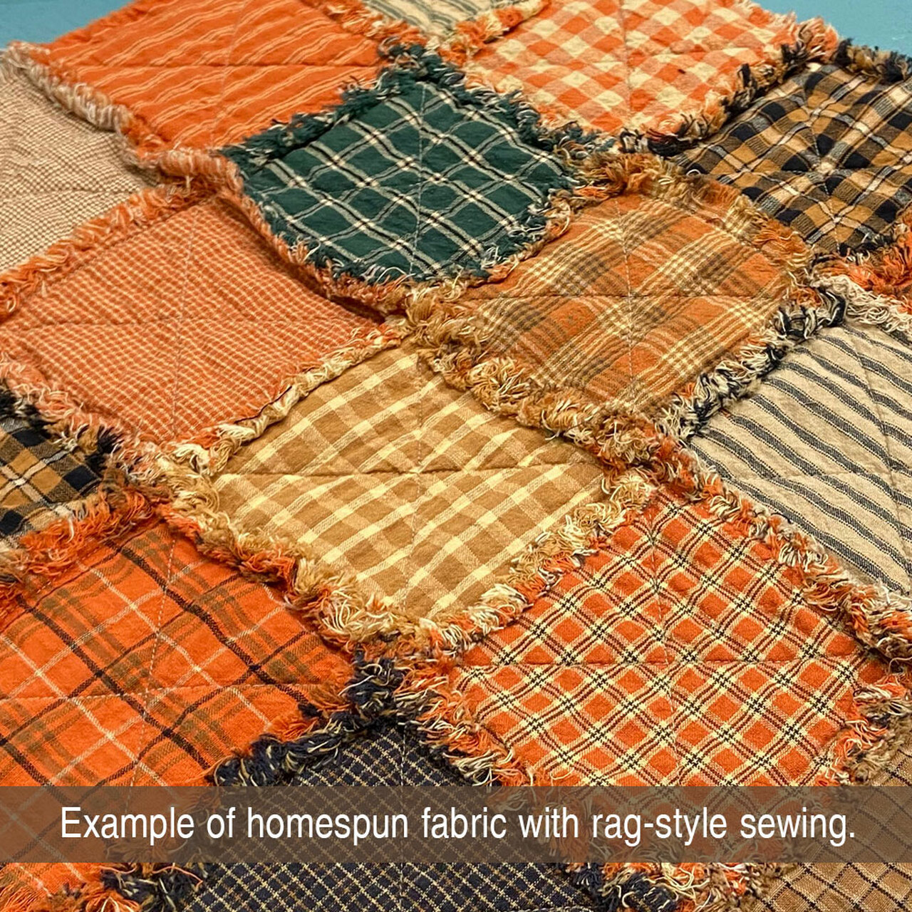 40 Autumn Spice Homespun 5 inch Quilt Squares