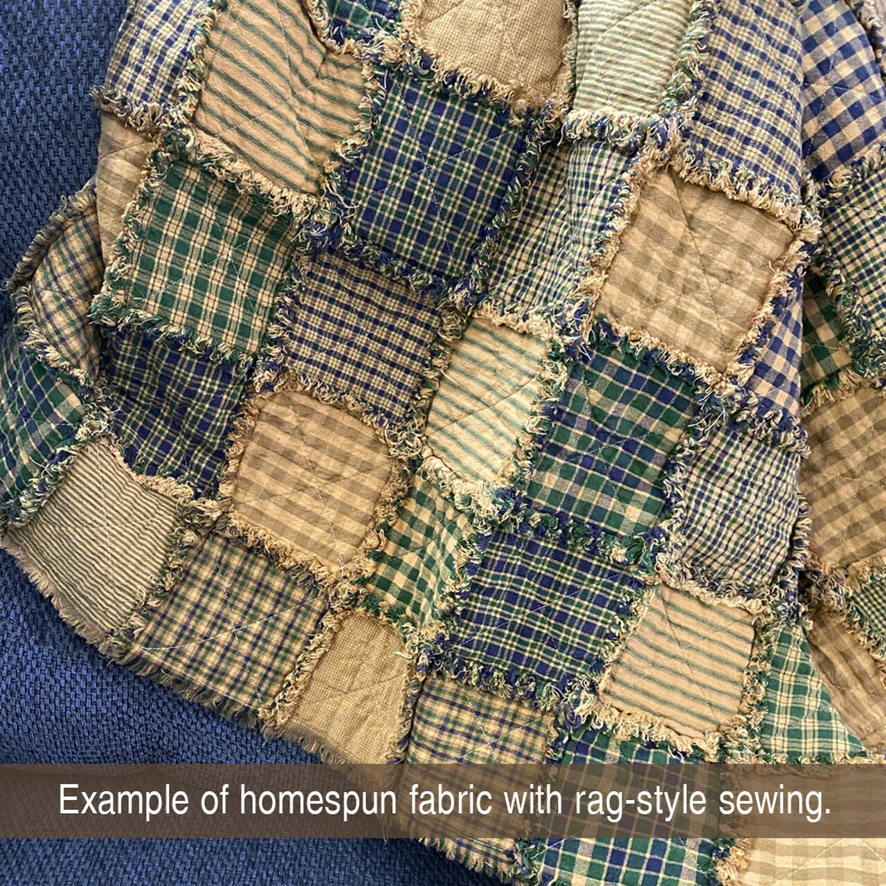 40 Cozy Homespun 5 inch Quilt Squares