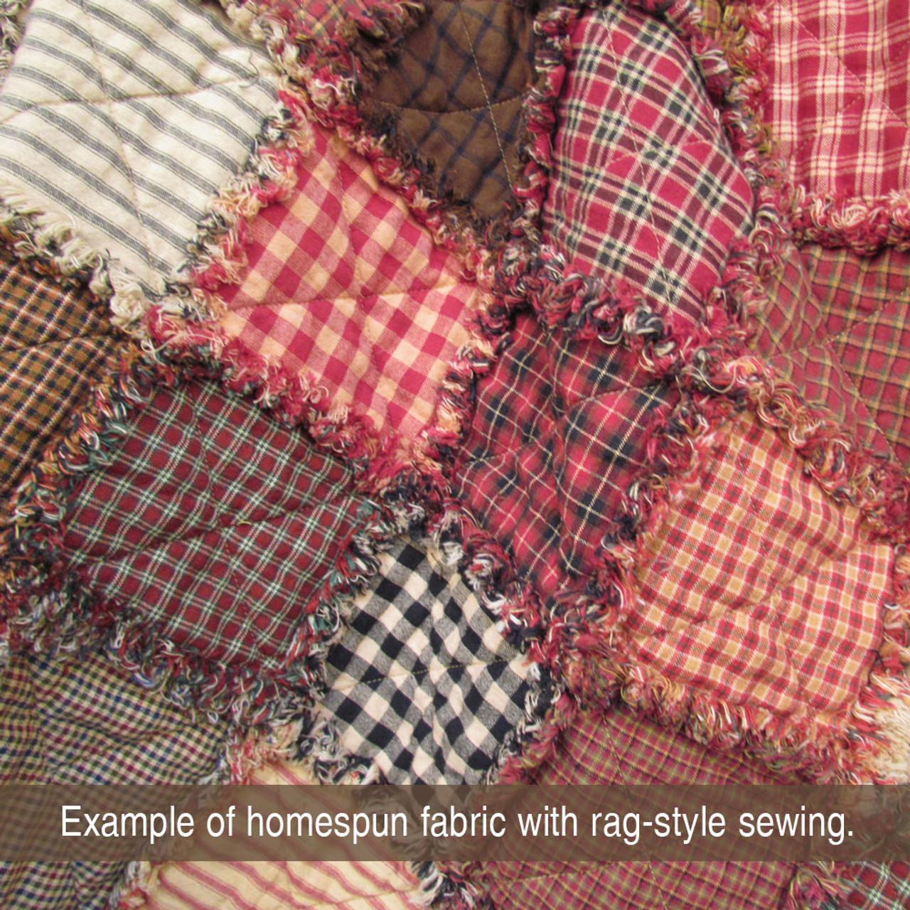 40 Farmhouse Red Homespun 5 inch Quilt Squares