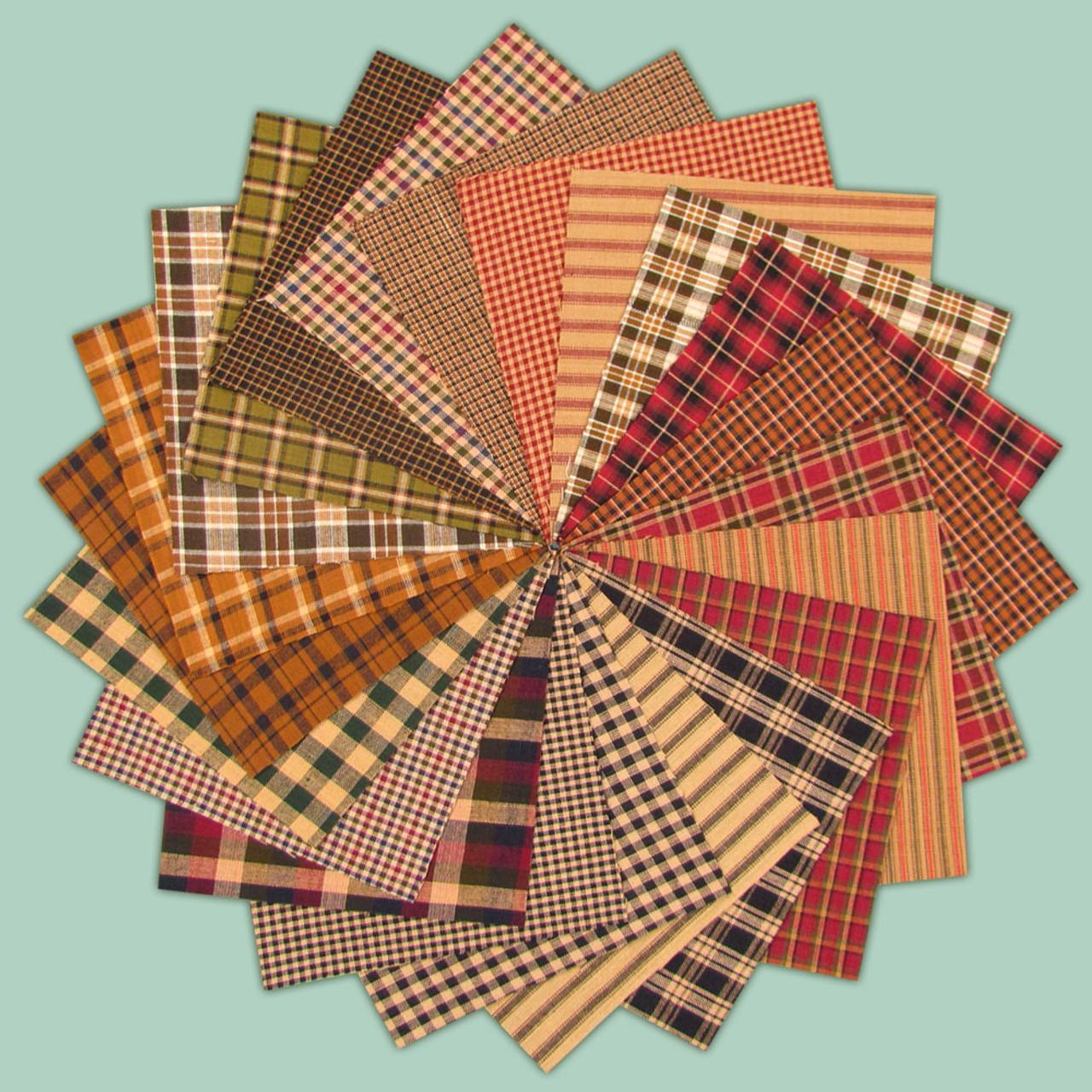 Rustic Primitive Ragged Homespun Quilt Kit