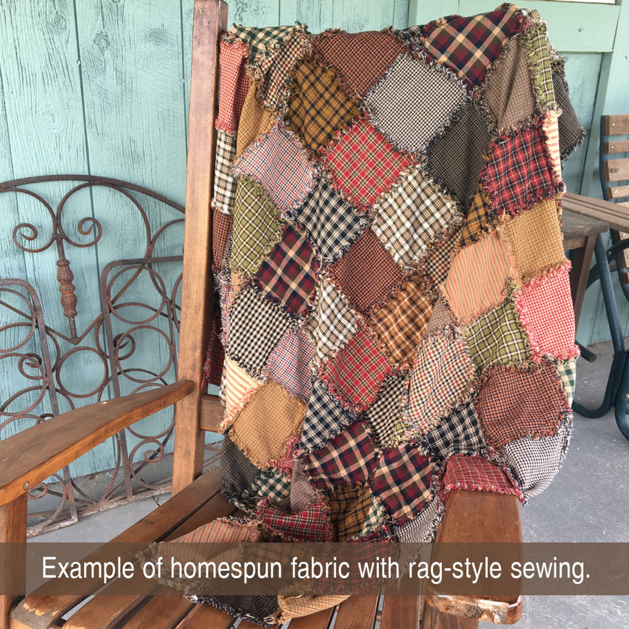 Rustic Primitive Ragged Homespun Quilt Kit