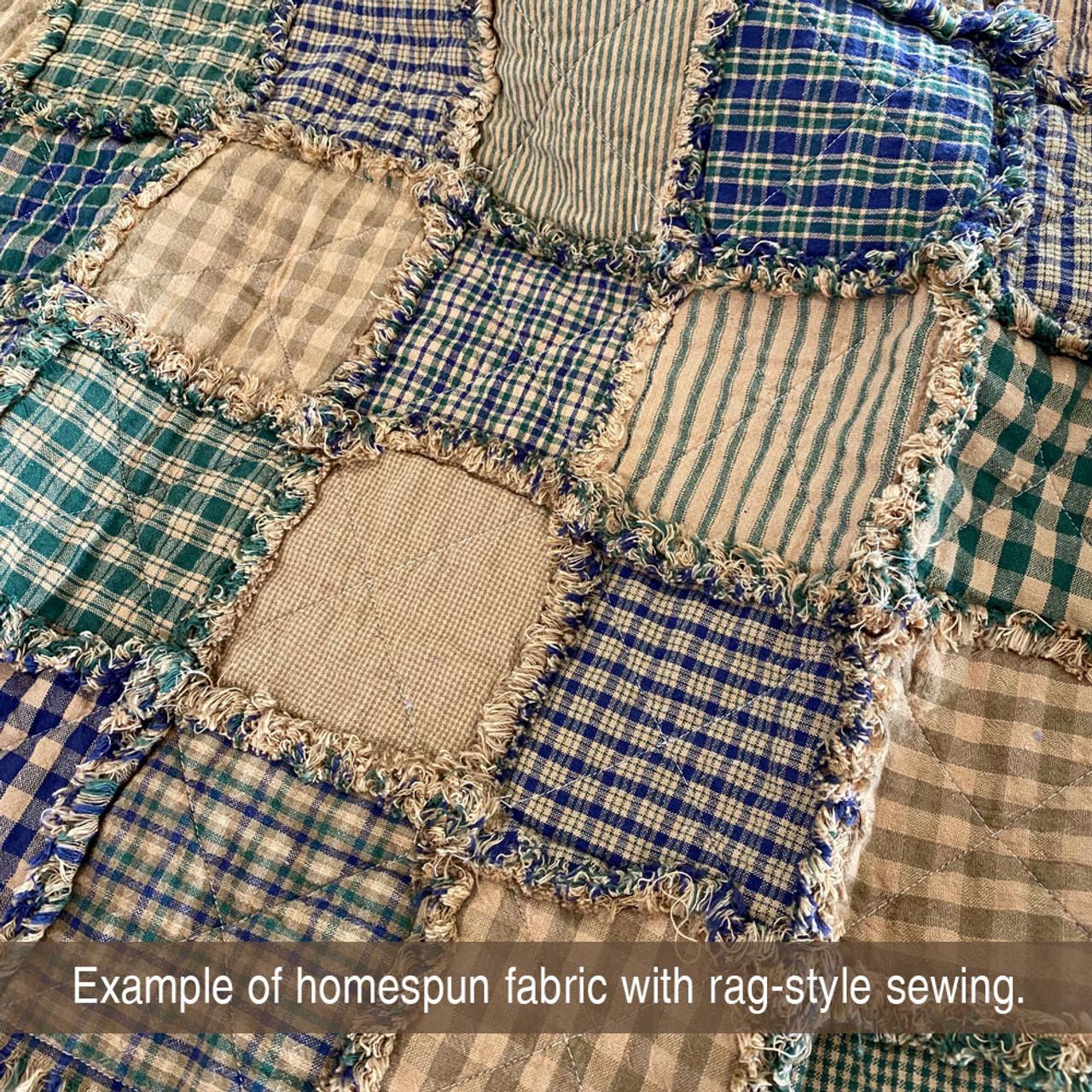 Cozy Ragged Homespun Quilt Kit