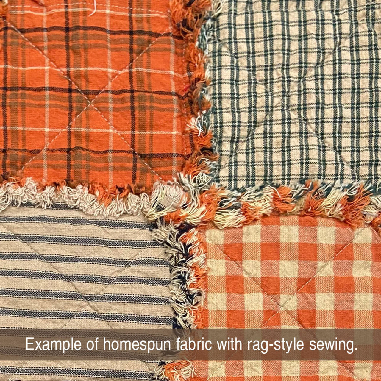 Autumn Spice Ragged Homespun Quilt Kit
