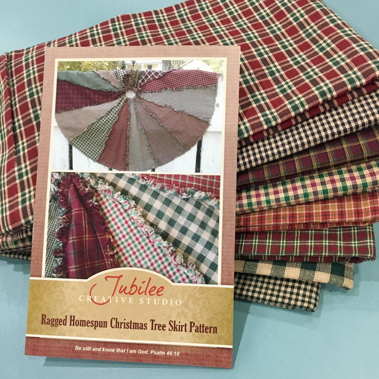 Primitive Ragged Christmas Tree Skirt Kit