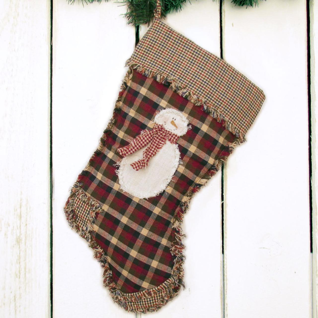 Ragged Christmas Stocking Pattern - Printed