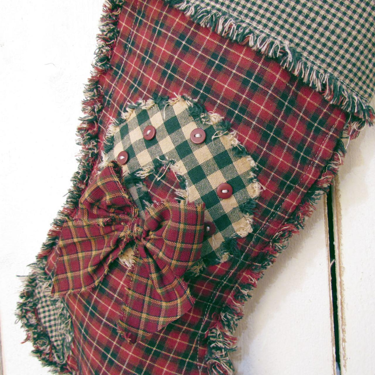 Ragged Christmas Stocking Pattern - DIGITAL