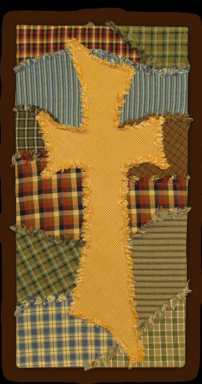 The Old Ragged Cross Wall Art Pattern - DIGITAL