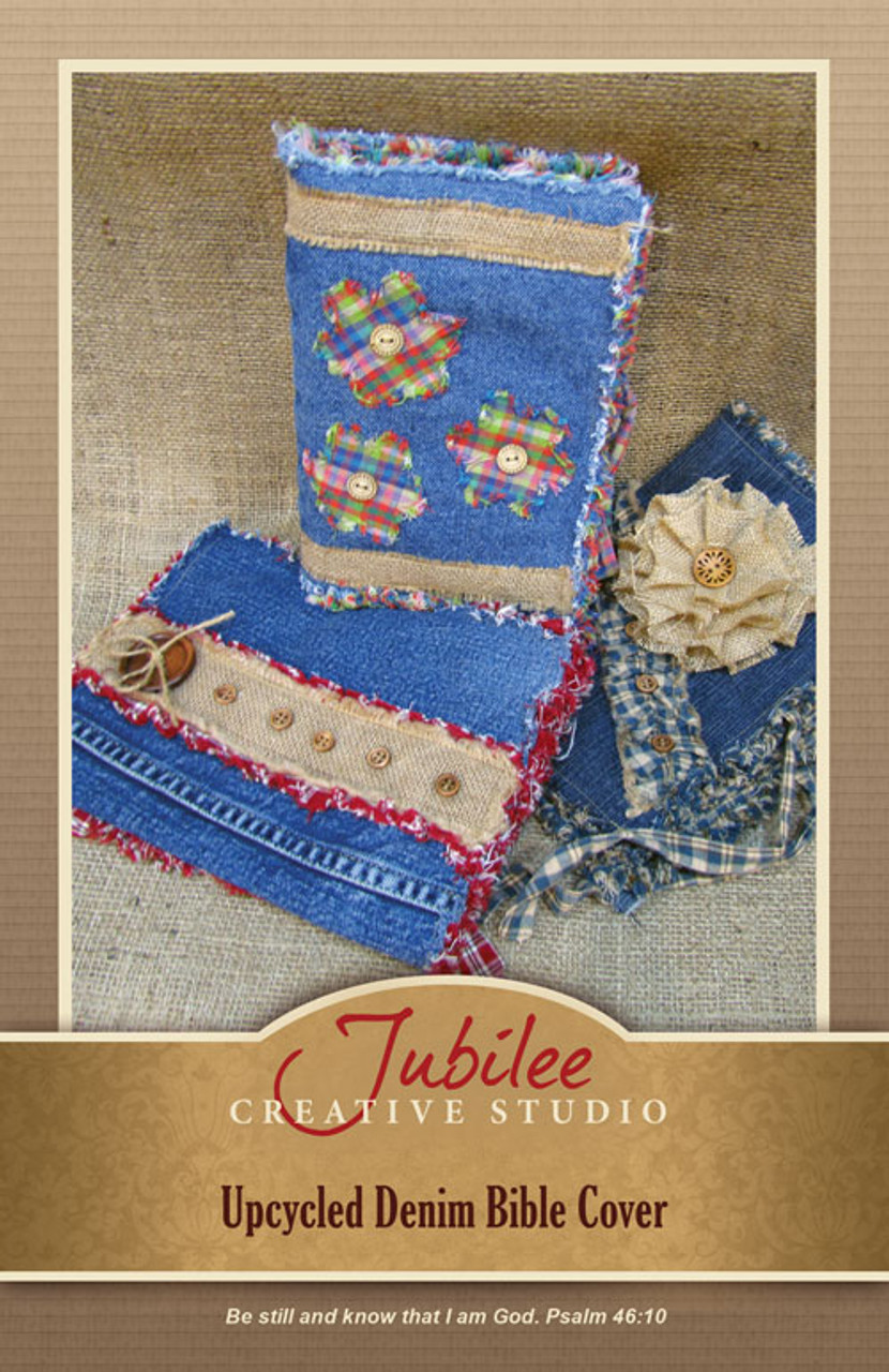 Upcycled Denim Bible or Book Cover #1 - DIGITAL