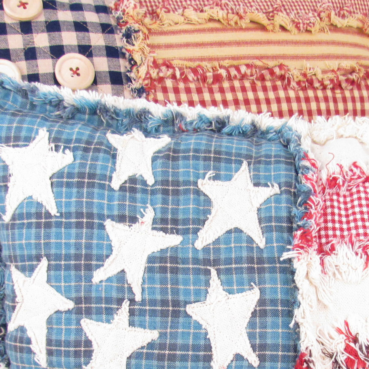 Freedom Flag Ragged Pillow Pattern - Forever Free!  - Digital
