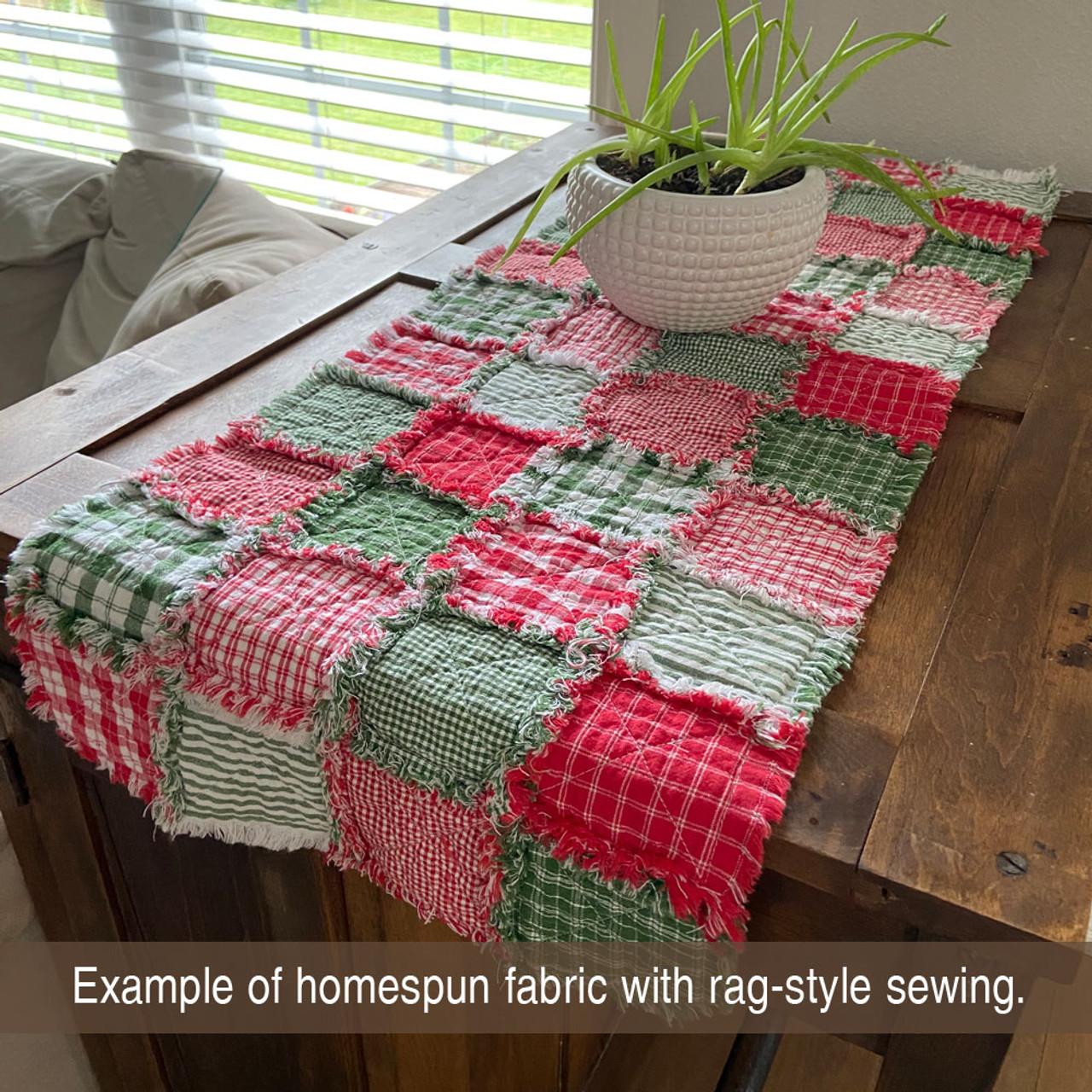 Cherry Red 5 Homespun Cotton Fabric