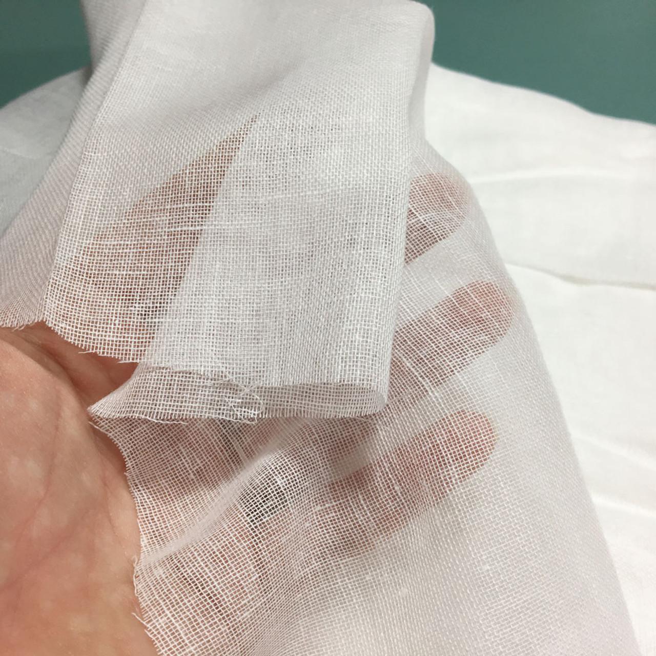 60 Yards White Tobacco Cloth Cotton Fabric - Lightweight