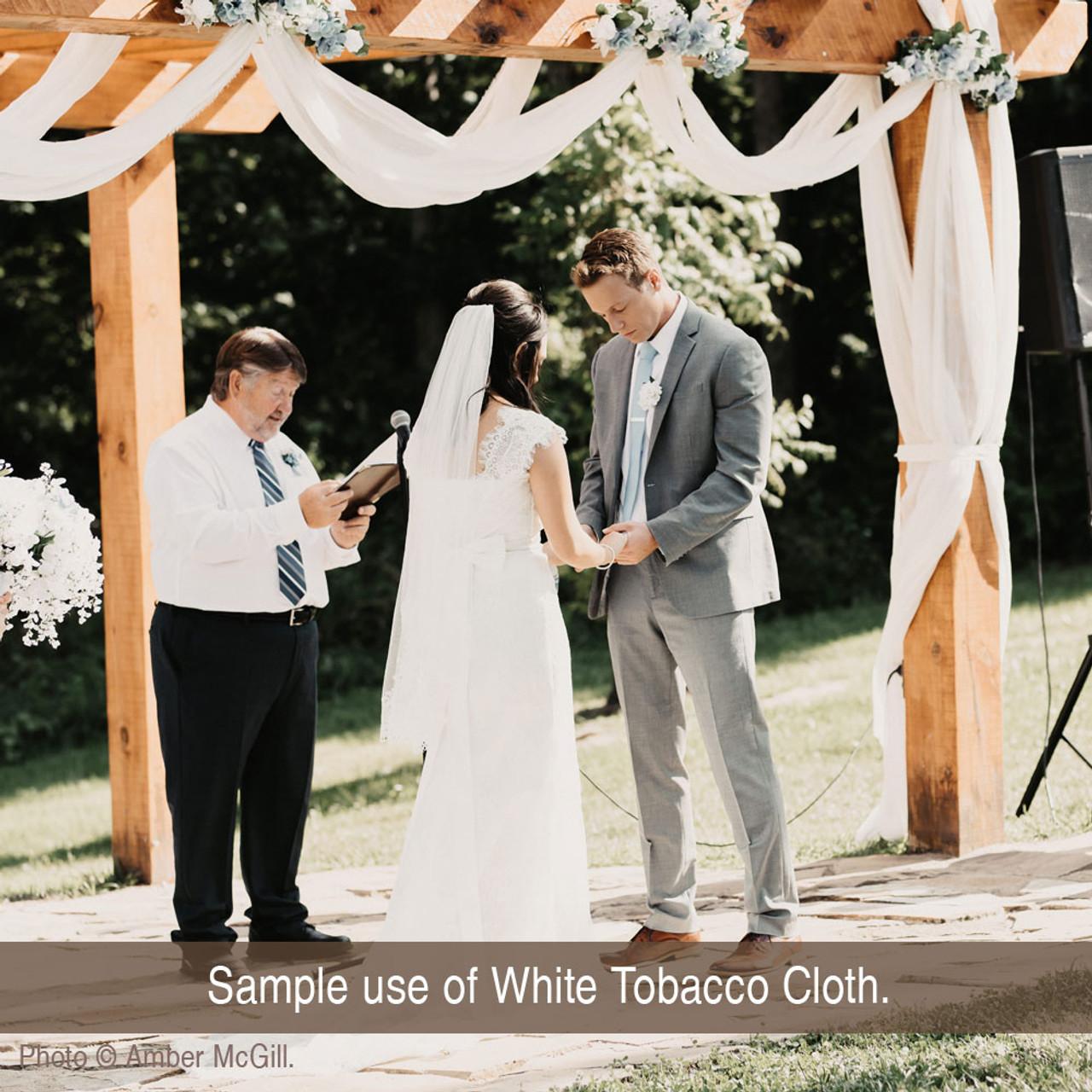 10 Yards White Tobacco Cloth Cotton Fabric - Lightweight