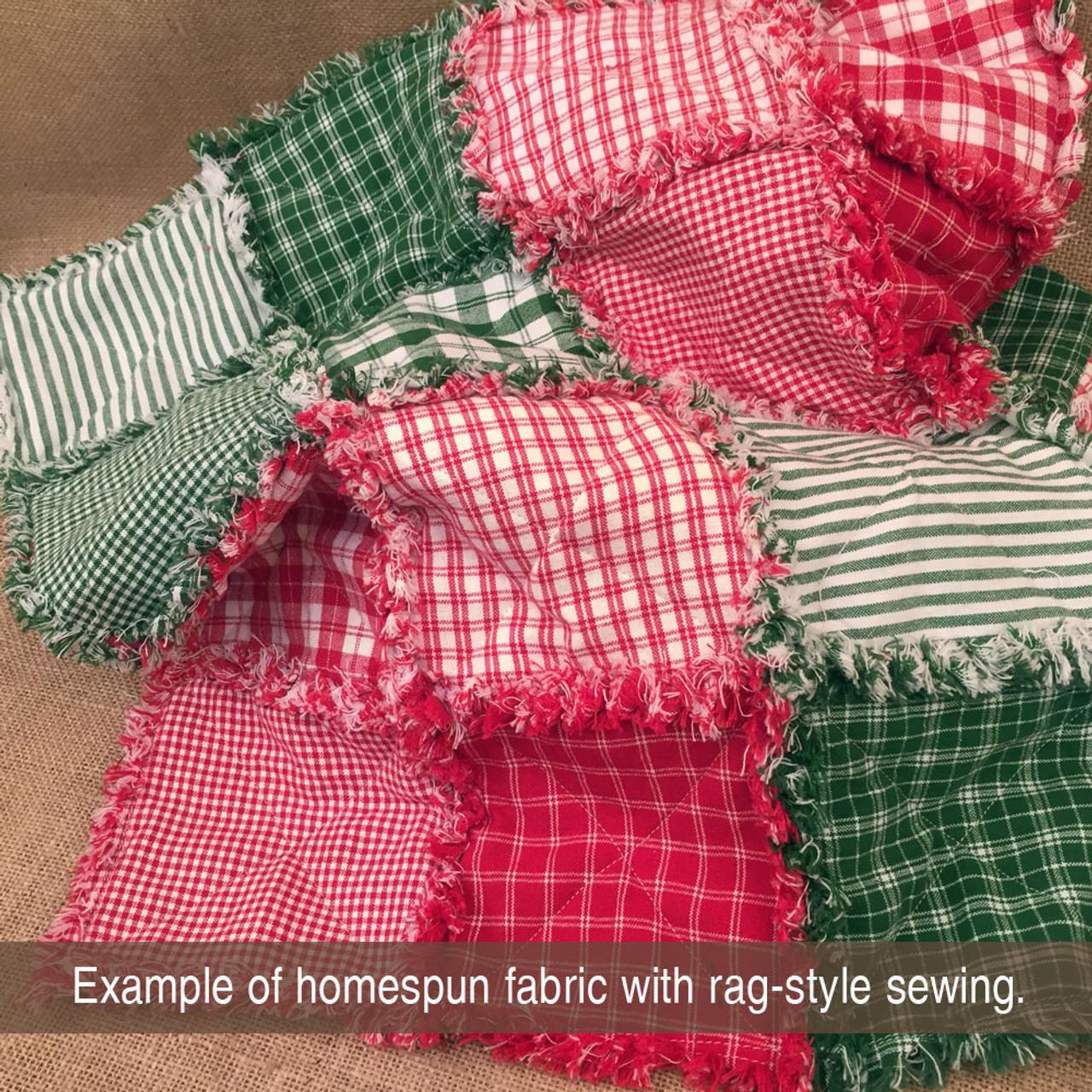 Perfect Green Stripe Homespun Cotton Fabric