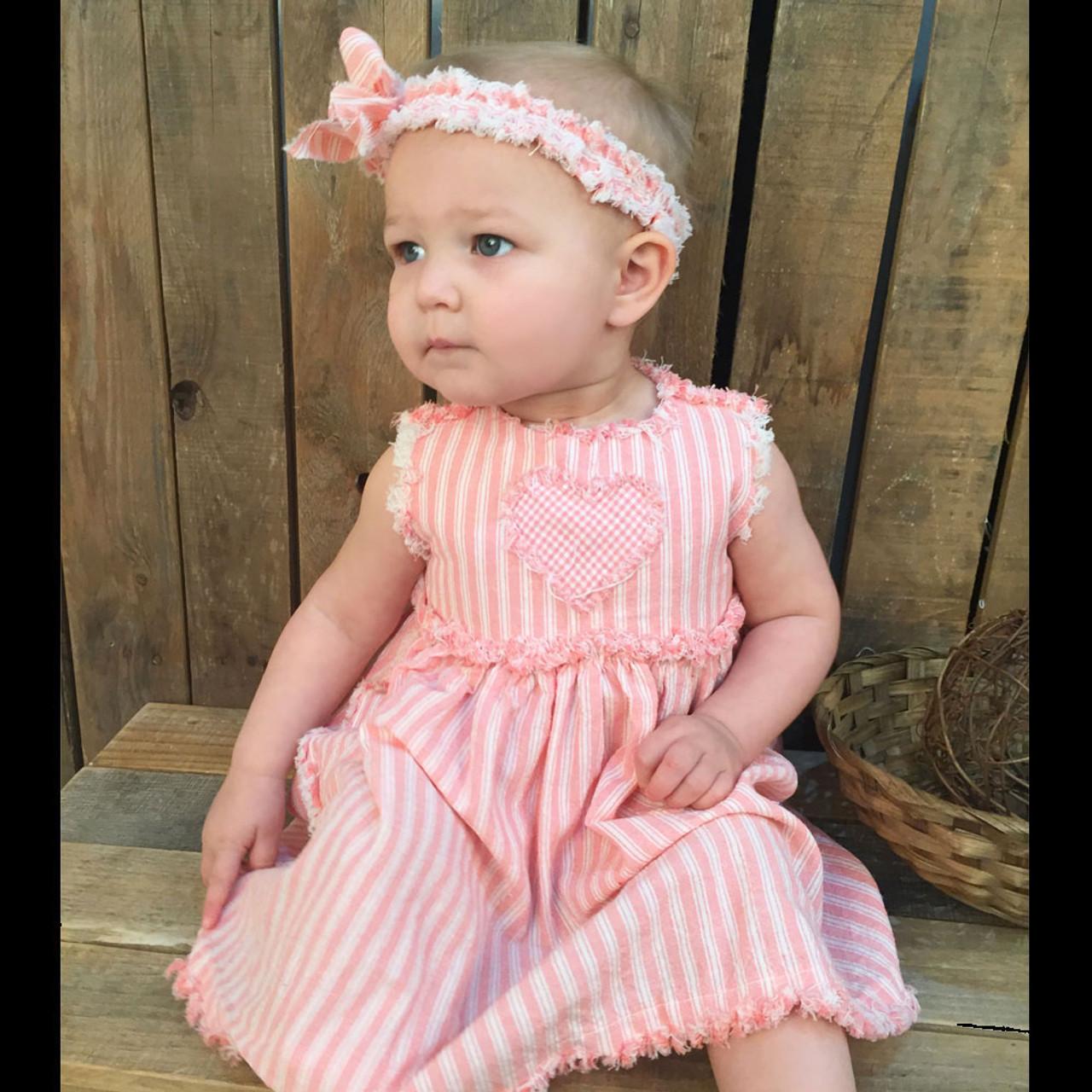 Ruthie Rag Style Baby Girls Dress, Bloomers & Headband Pattern