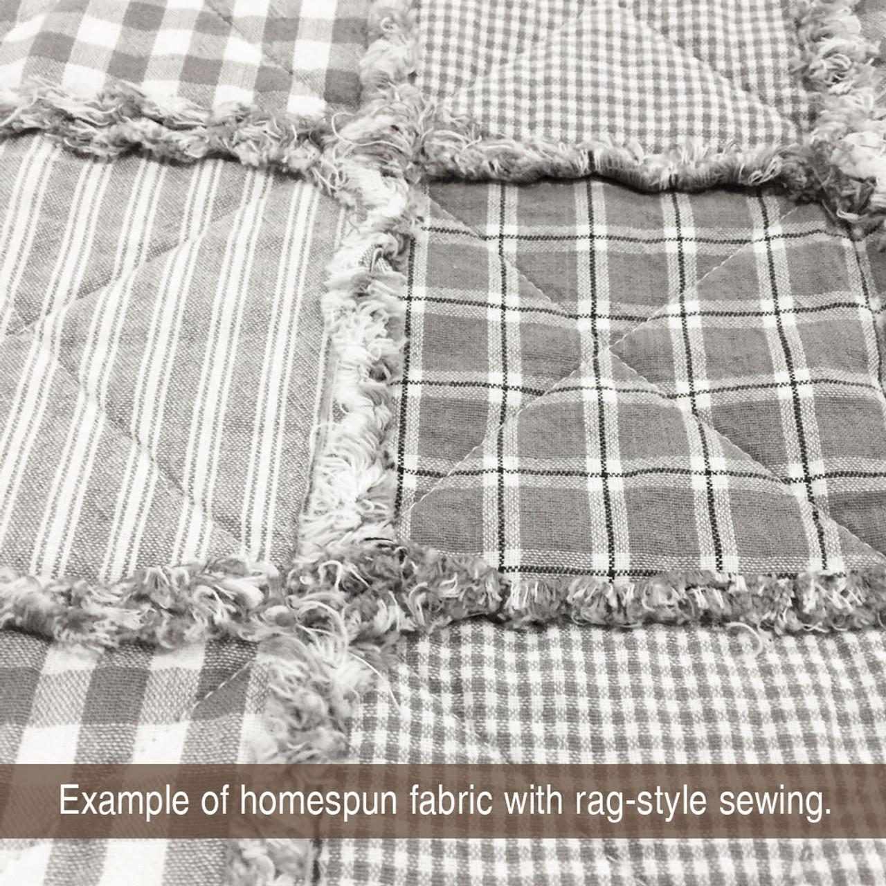 Magnolia Gray Mini Buffalo Homespun Cotton Fabric