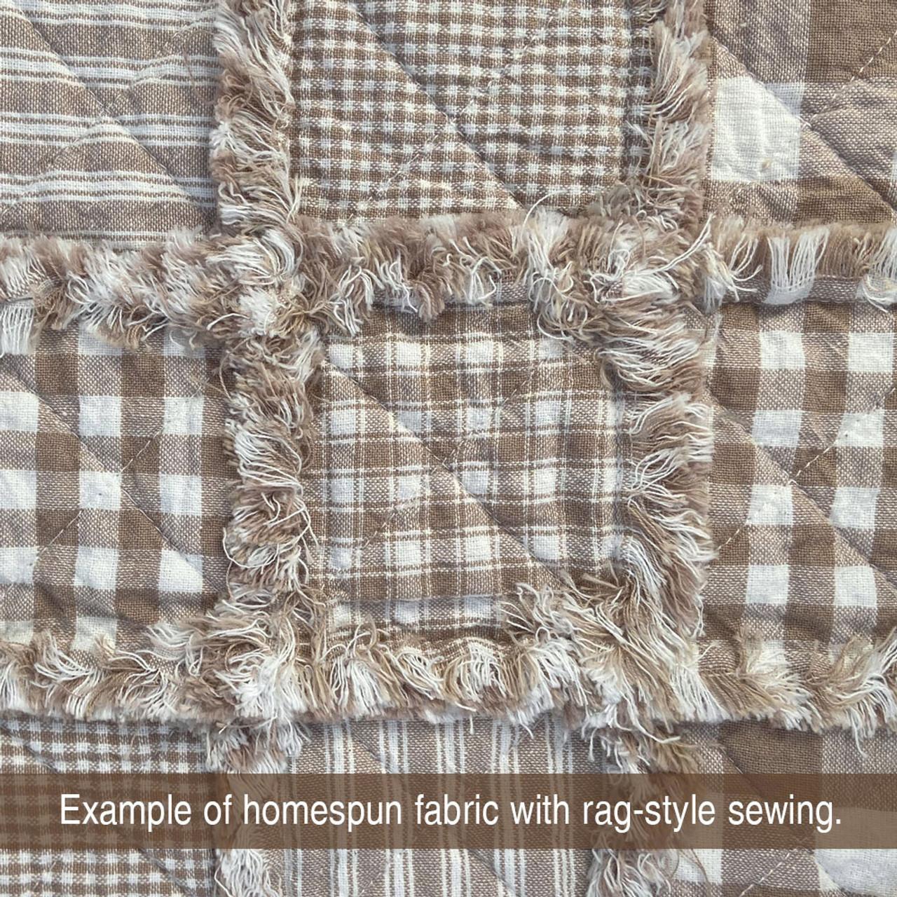 Oatmeal 4 Homespun Cotton Fabric