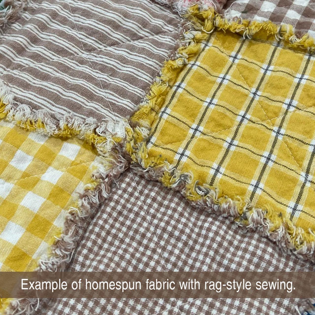 Oatmeal 2 Homespun Cotton Fabric