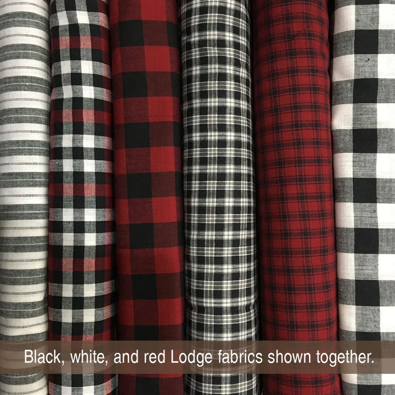 Mountain Lodge 3 Red Plaid Homespun Cotton Fabric