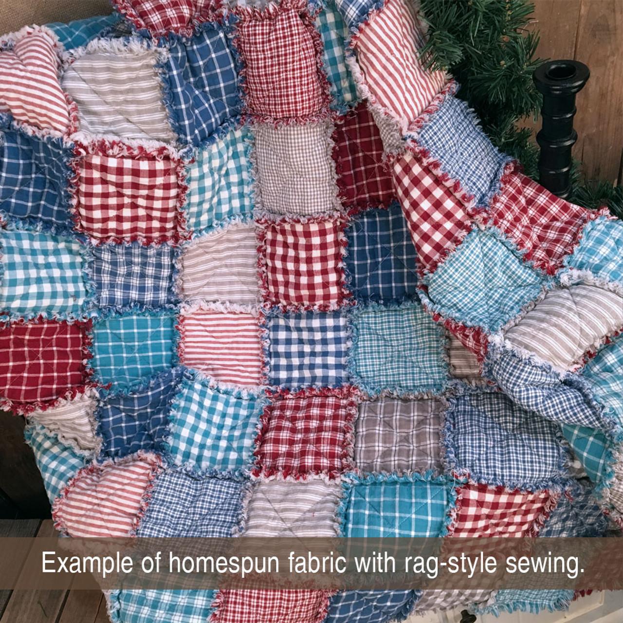 Liberty Red Mini Buffalo Homespun Cotton Fabric
