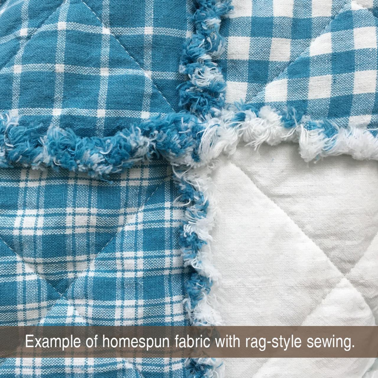Hampton Blue 6 Homespun Cotton Fabric