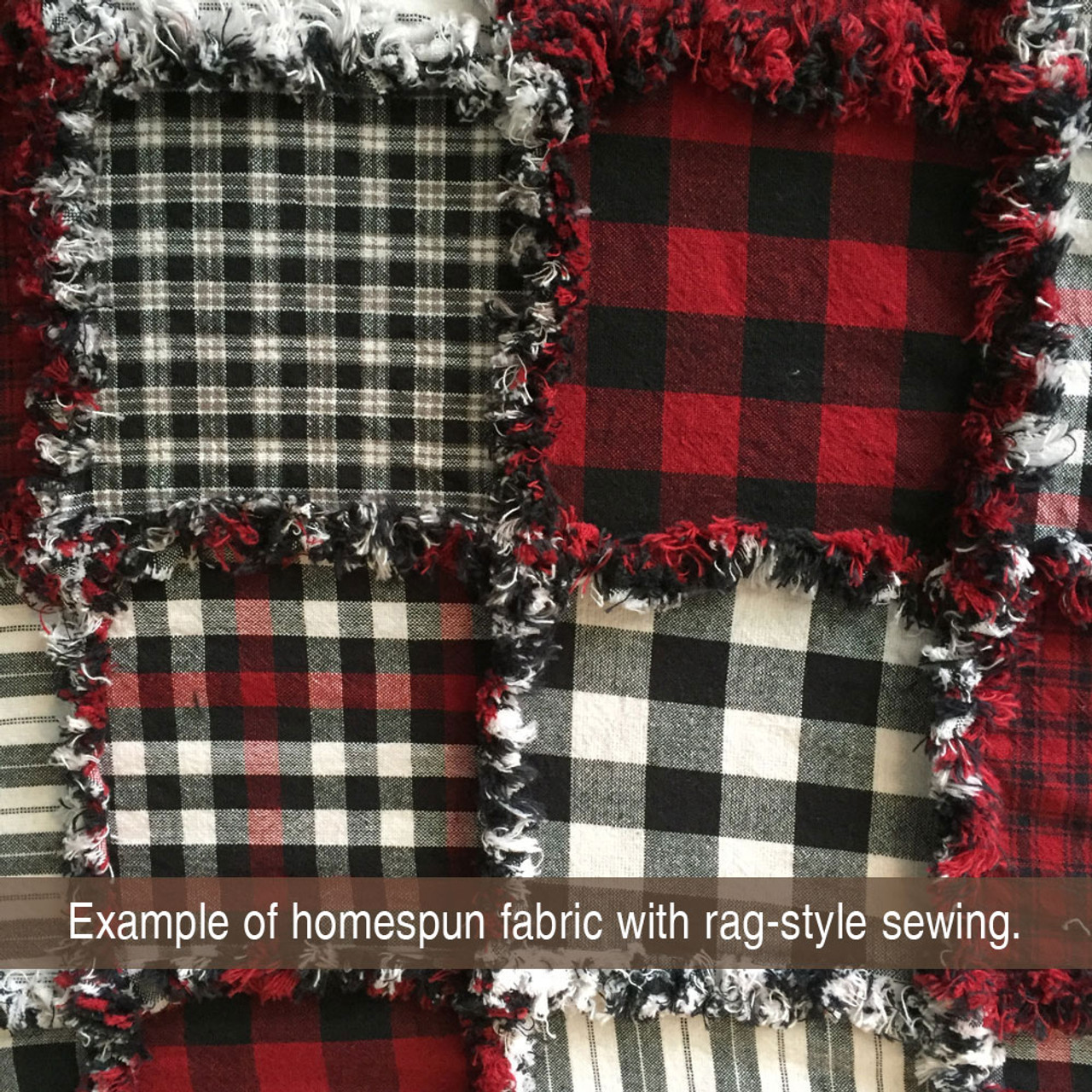 40 Lodge Buffalo Plaid Homespun 5 inch Quilt Squares